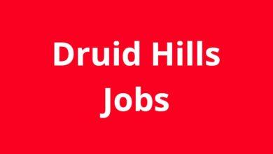 Jobs in Druid Hills GA
